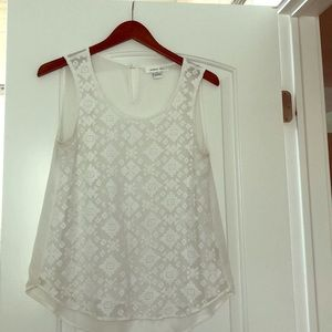 Lace detailed August Silk tank top blouse